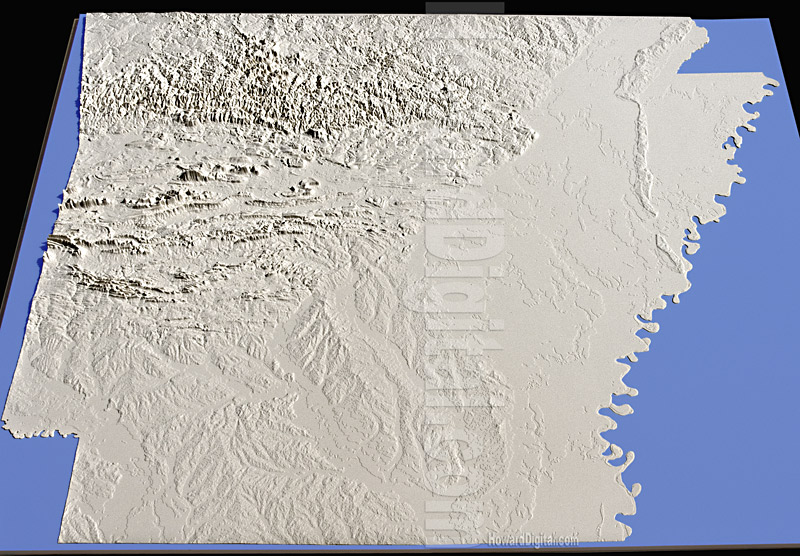 Landform Models Arkansas Model Howard Models - Arkansas relief map