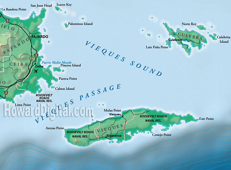 Relief maps puerto rico relief map howard models raised relief maps puerto rico model location sciox Choice Image