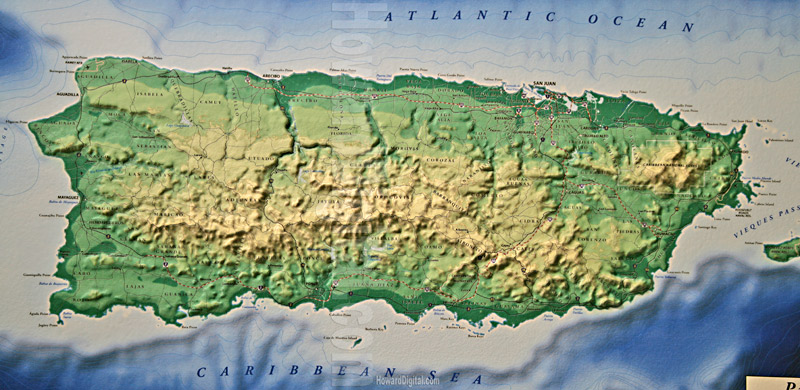 Puerto Rico Map 3d