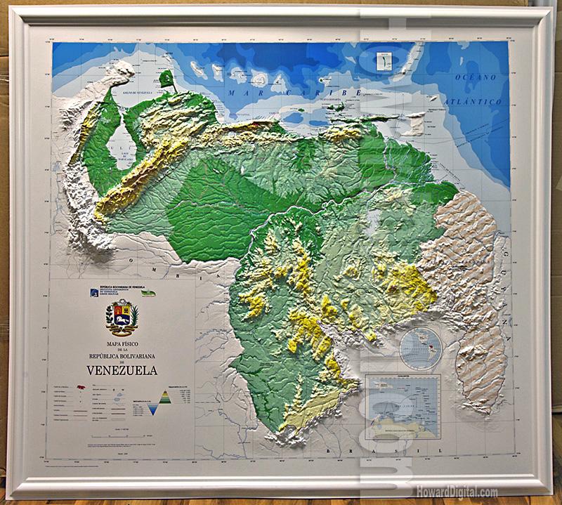 Venezuela Topographic Map.Venezuela 3d Map Venezuela Model Howard Models