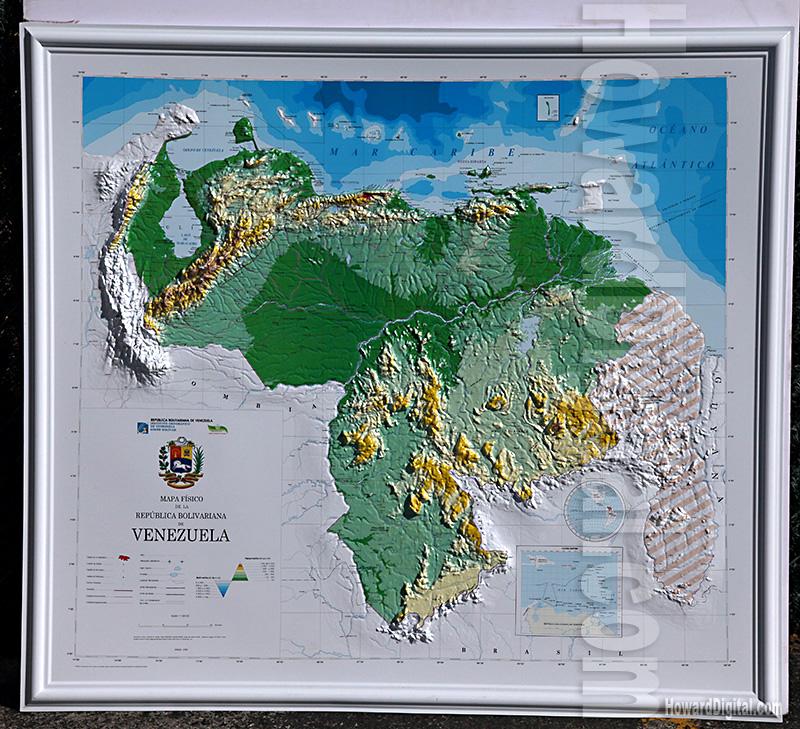 Venezuela Topographic Map.Venezuela Map Model Venezuela Model Howard Models