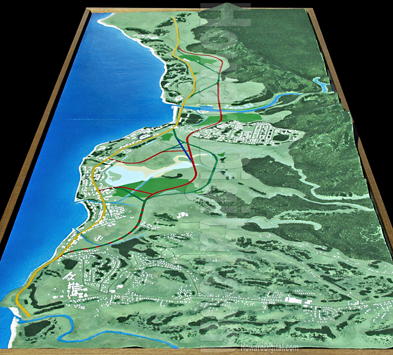 Relief Maps Hawaii Highway Model Howard Models