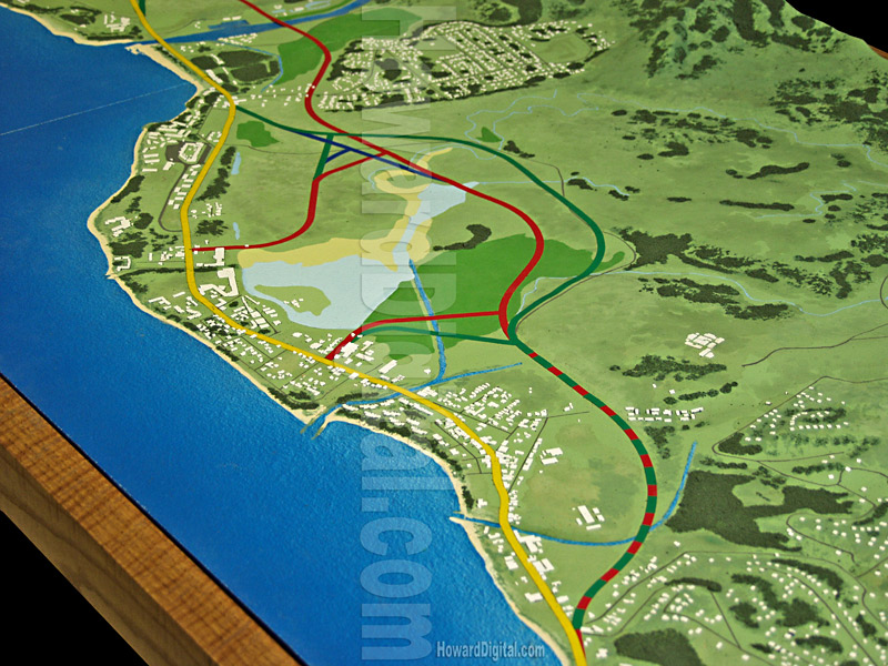 Relief Maps Hawaii Highway Model Howard Models