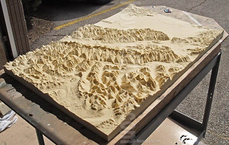 Relief Maps Montana Crash Site Relief Map Howard Models - Us raised relief topographical map