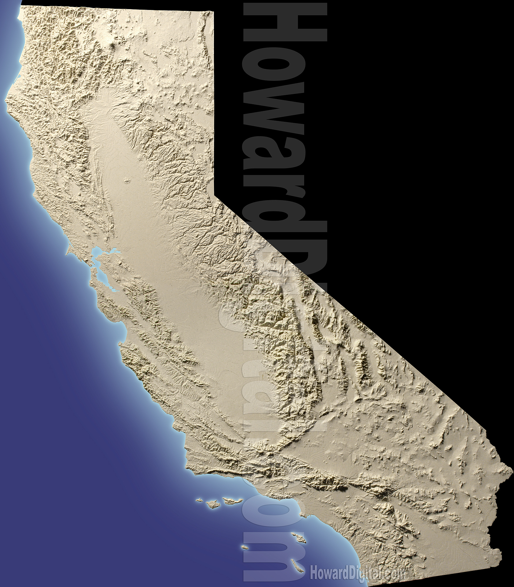 California Terrain Models - Terrain Model - Howard Models
