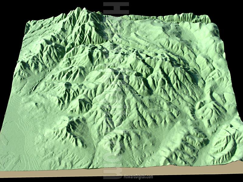 Idaho Models - Topographic Models - Idaho Topo Topographic Model ...