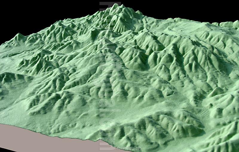 Idaho Topographic Site Model - Idaho Topo Topographic Model - Howard ...