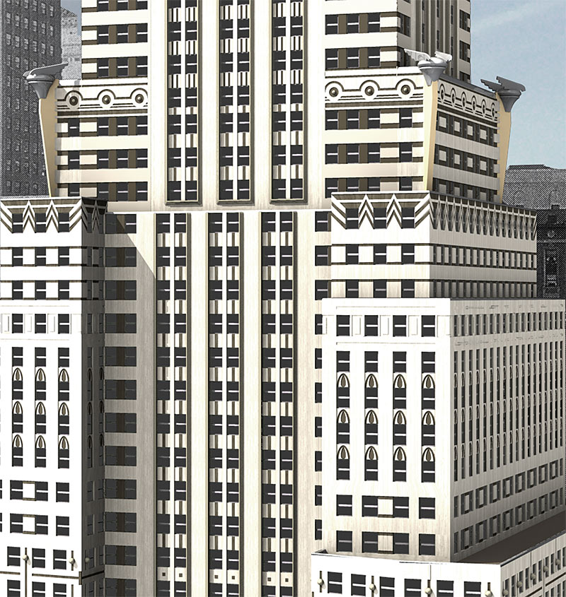 Chrysler Building 3d Studio Max Model Mesh Solid Model