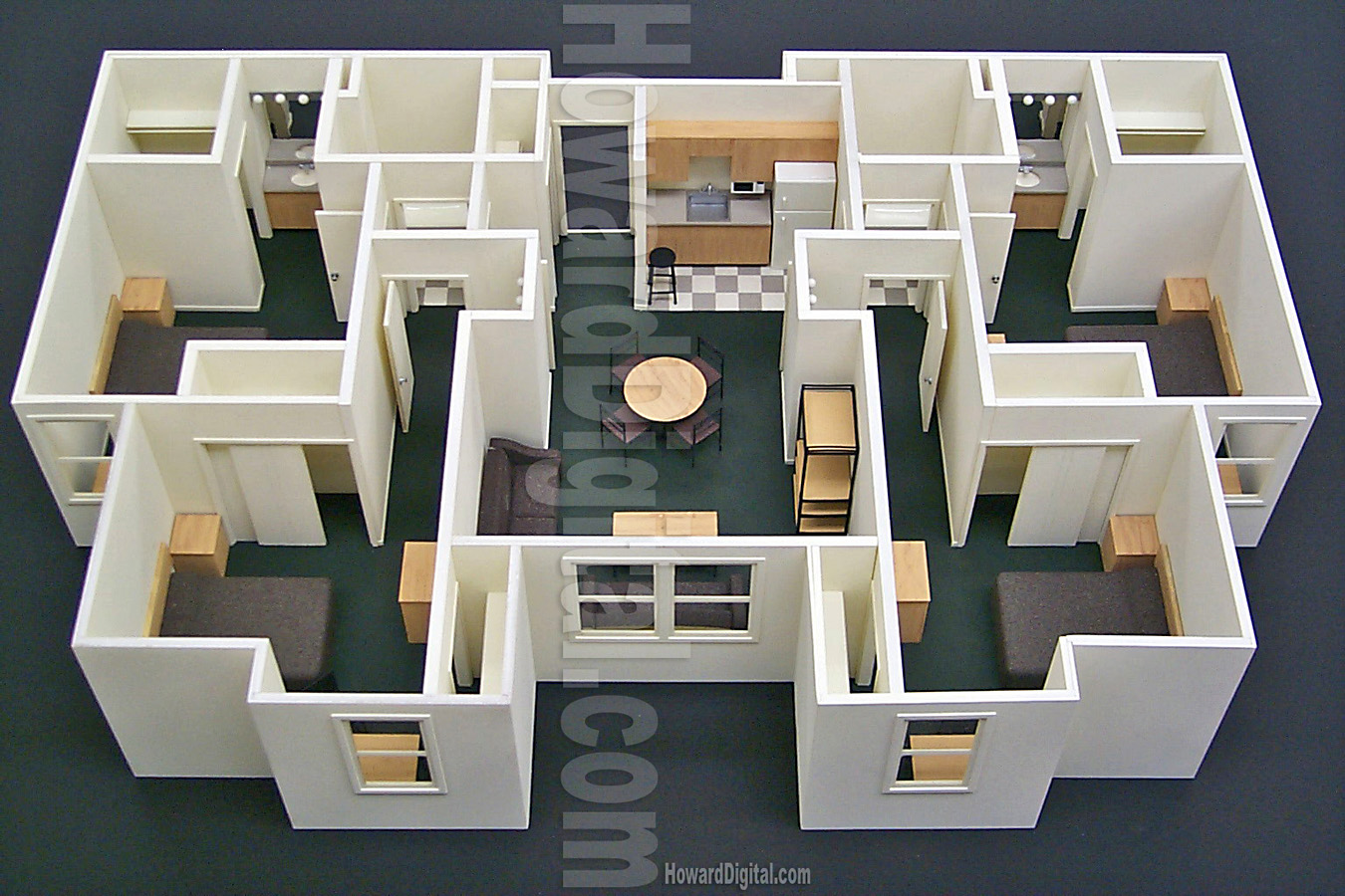 Interior scale model howard architectural models for 3d house model maker