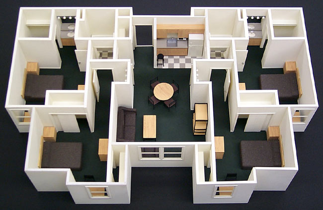 Interior scale model howard architectural models callaway dorms architectural model - Simple and model home interiors ...