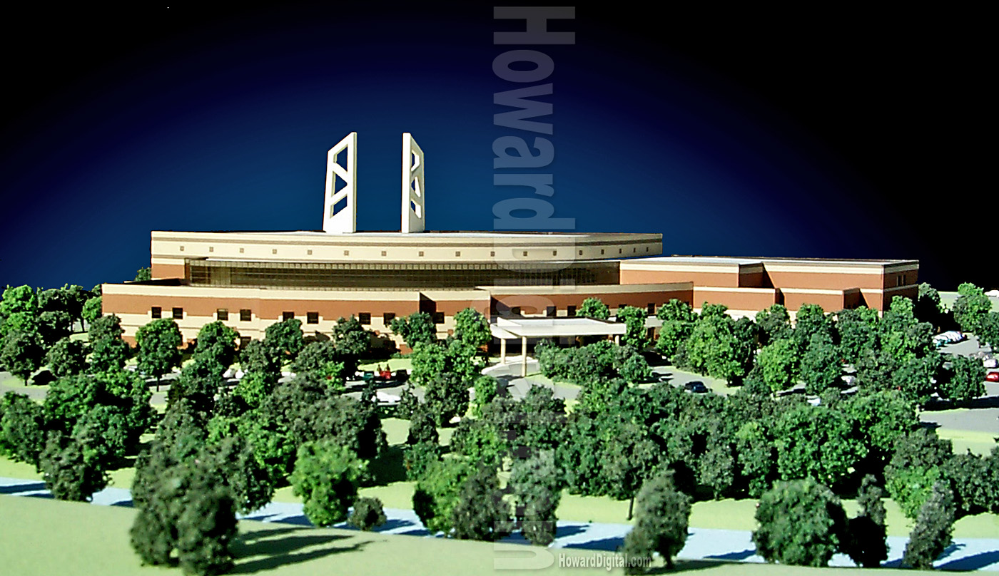 Architectural Landscape Model Greater Grace Temple Detroit - Temple landscape architecture