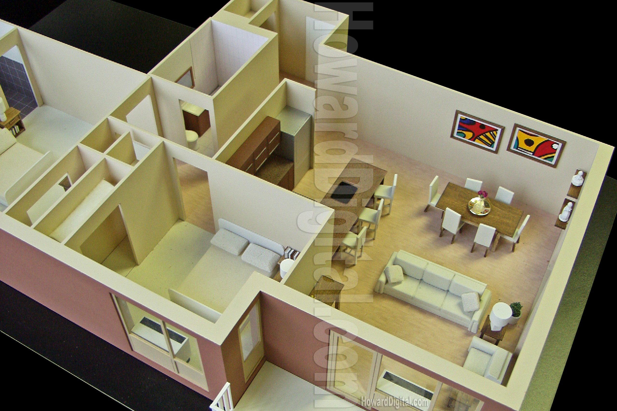 interior model howard architectural models westwood terrace bronx