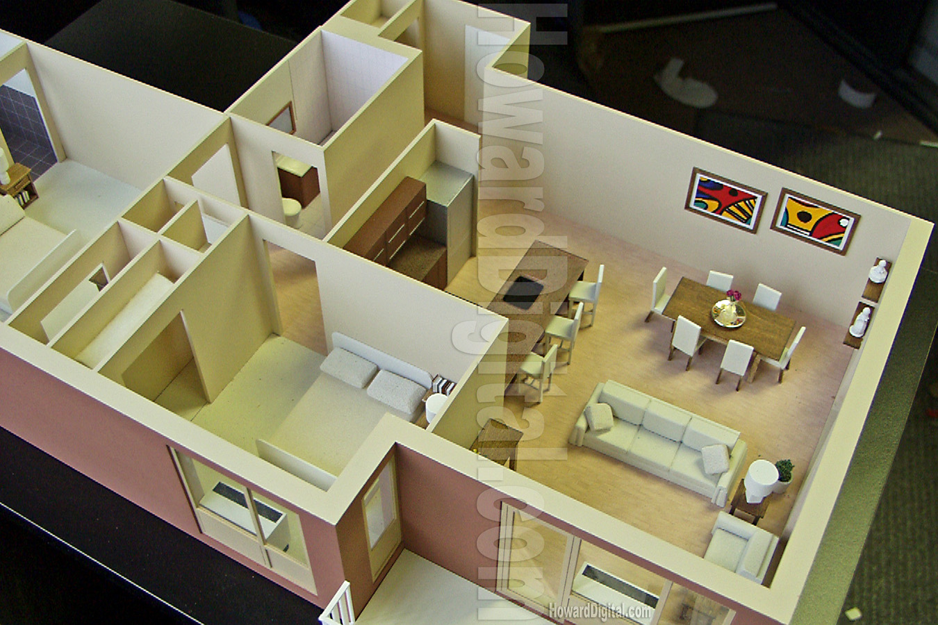 Interior model howard architectural models westwood for Apartment design models