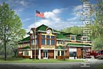 North Hudson Fire Station rendering