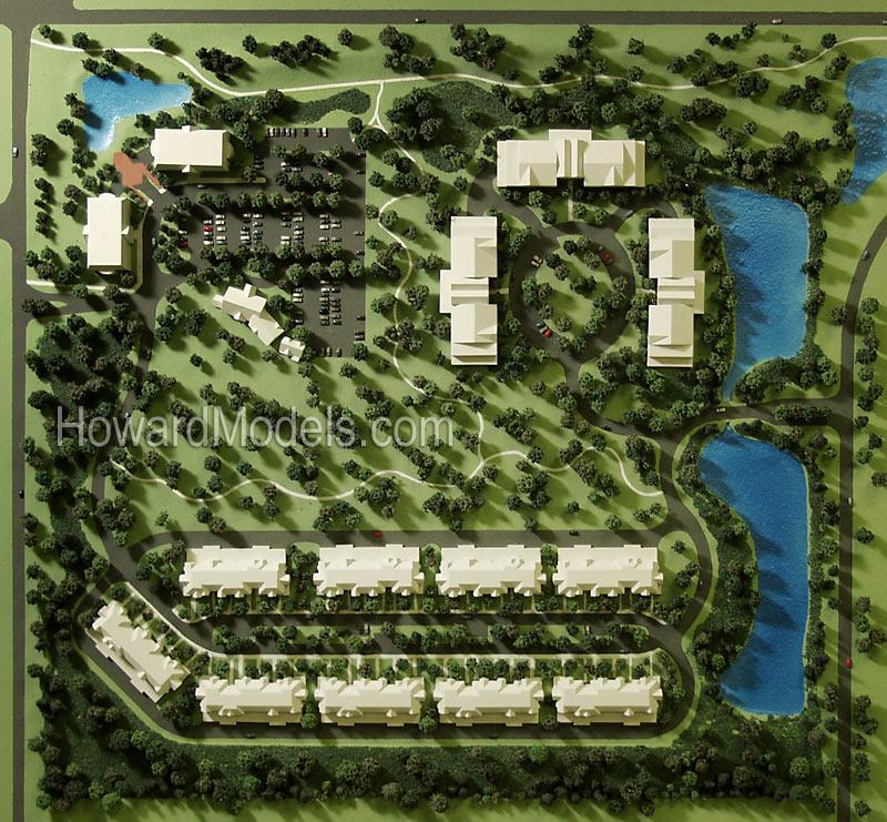 Condominium Site Plan Model Howard Models – Rendered Site Plan