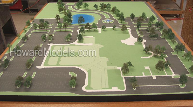 Rendered Site Plan - Howard Models - Topo