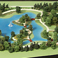 Botanical Gardens landscape model