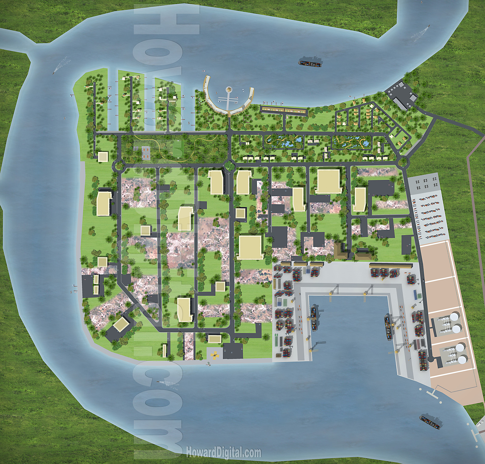 Picture Book Illustration Making An Architectural Model: Nigeria Energy City Renderings