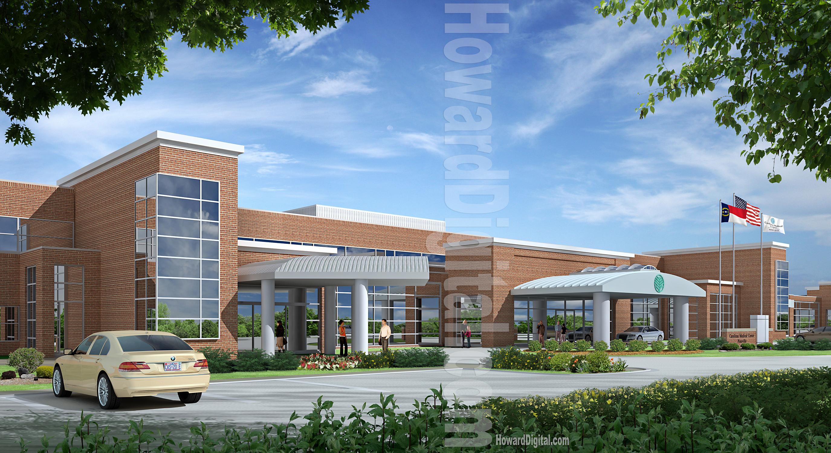 Pineview rendering howard digital for Exterior rendering