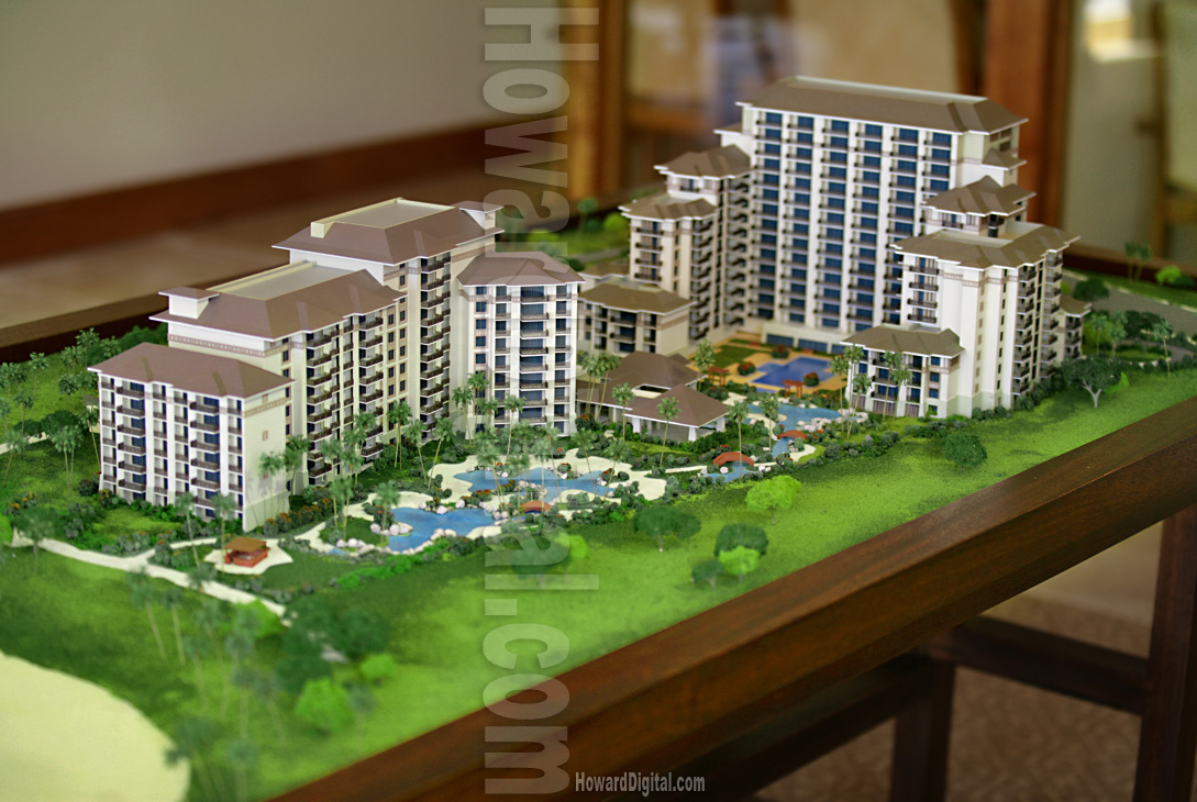scale models beach villas at ko olina architectural model
