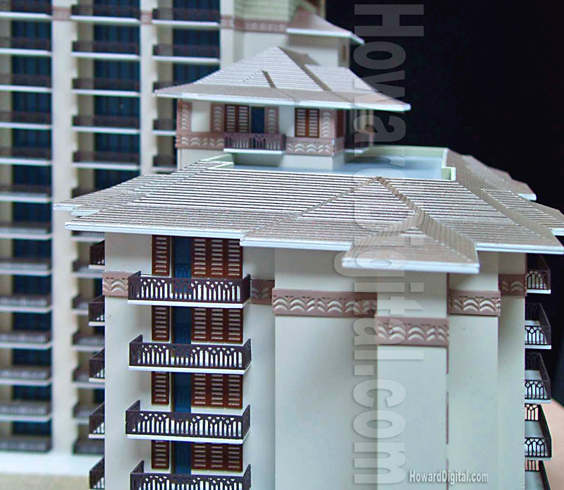 Honeymoon Villas Hawaii Architectural Model