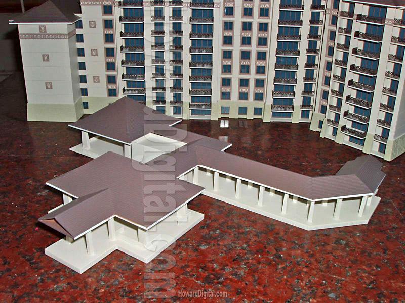 Hawaii luxury Vacation Villas Architectural Model