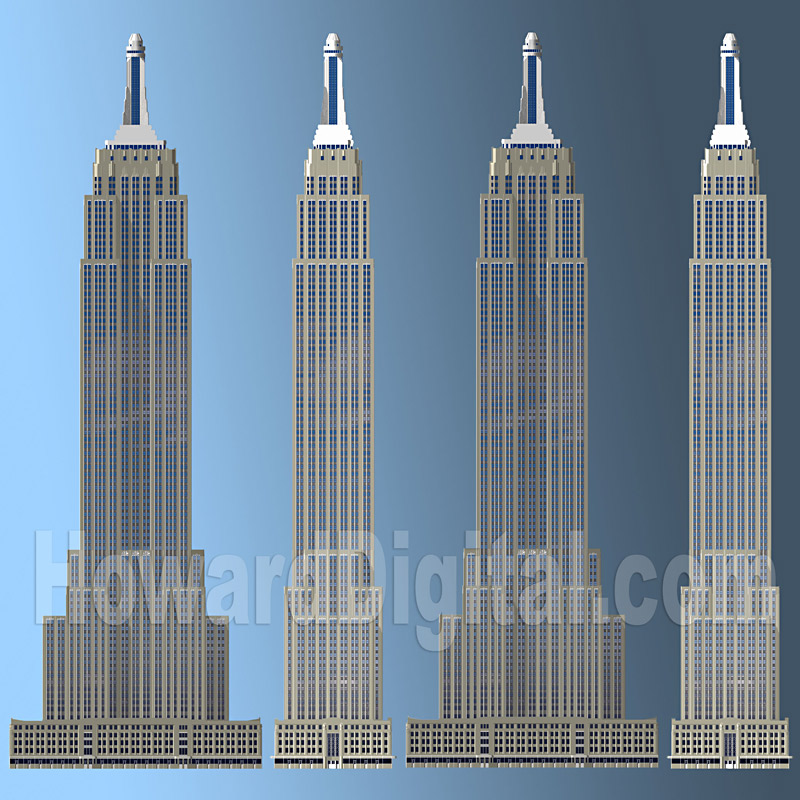 Empire elevations howard architectural models empire for Model house nyc