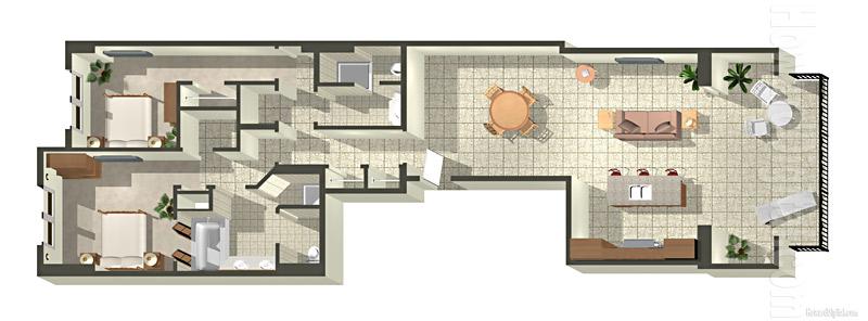 Architectural Renderings Floor Plans Beach Villas At Ko Olina