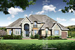 French Chateau House Renderings