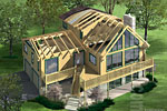Alta Log Home Rendering