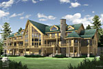 Schweizer Log House Renderings