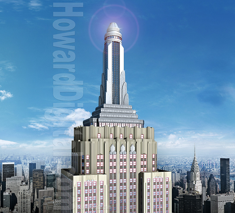 Large Empire State Building Replica