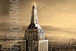Antique Empire State Building Photo