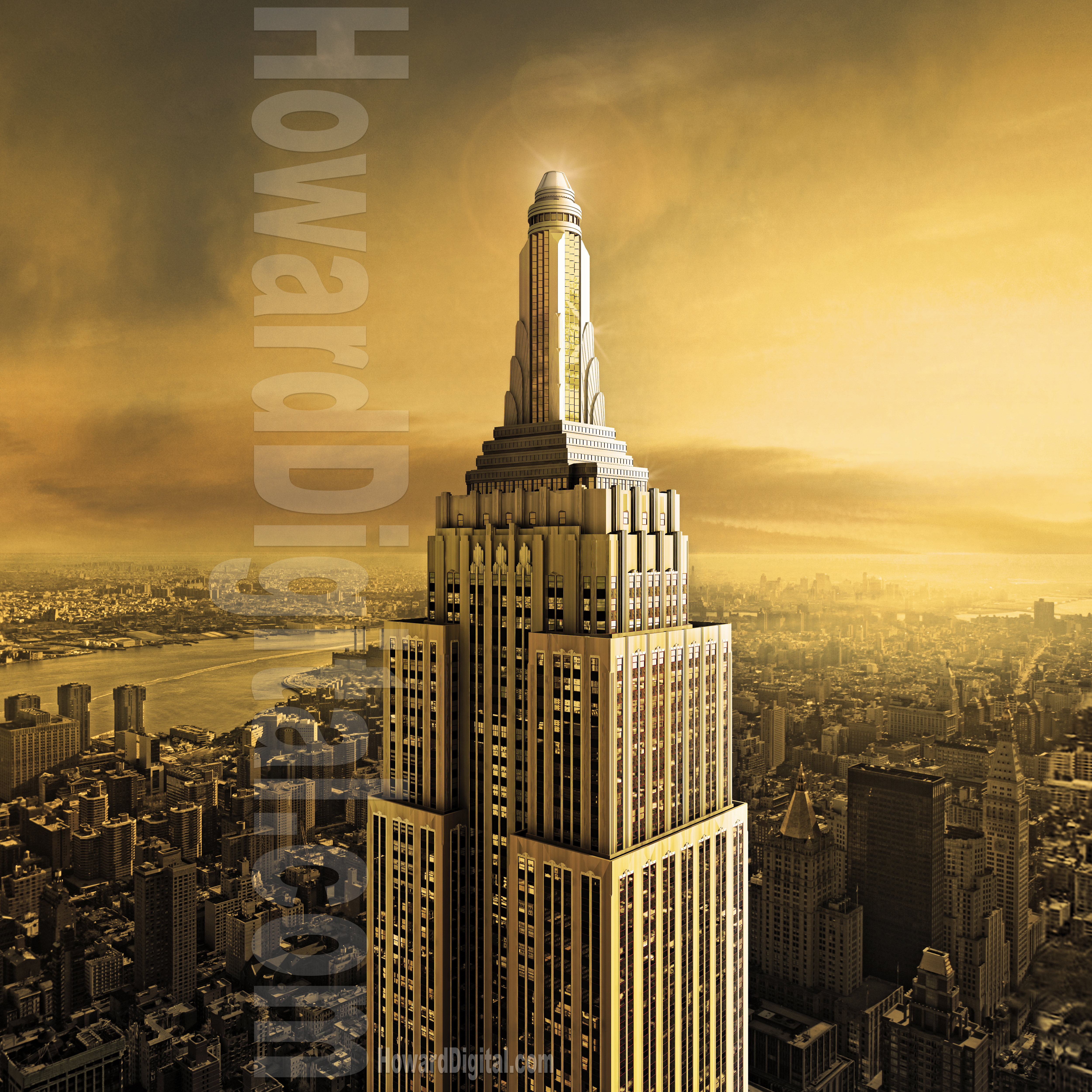 empire state building sunset - photo #8