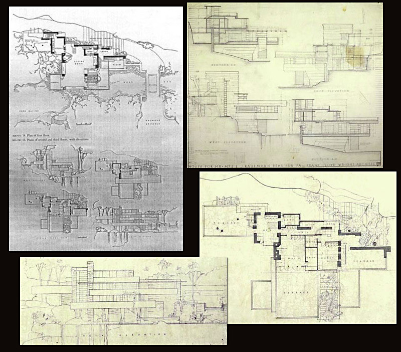 Frank Lloyd Wright - Falling Water Floor Plan - Architectural Models