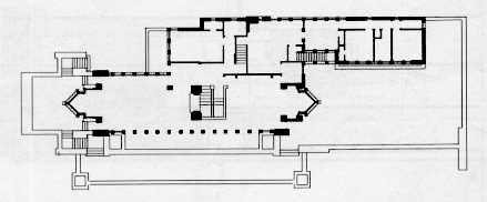The Robie House Floor Plan by Frank Lloyd Wright Howard