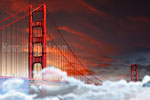 Golden Gate Bridge Dusk Fog