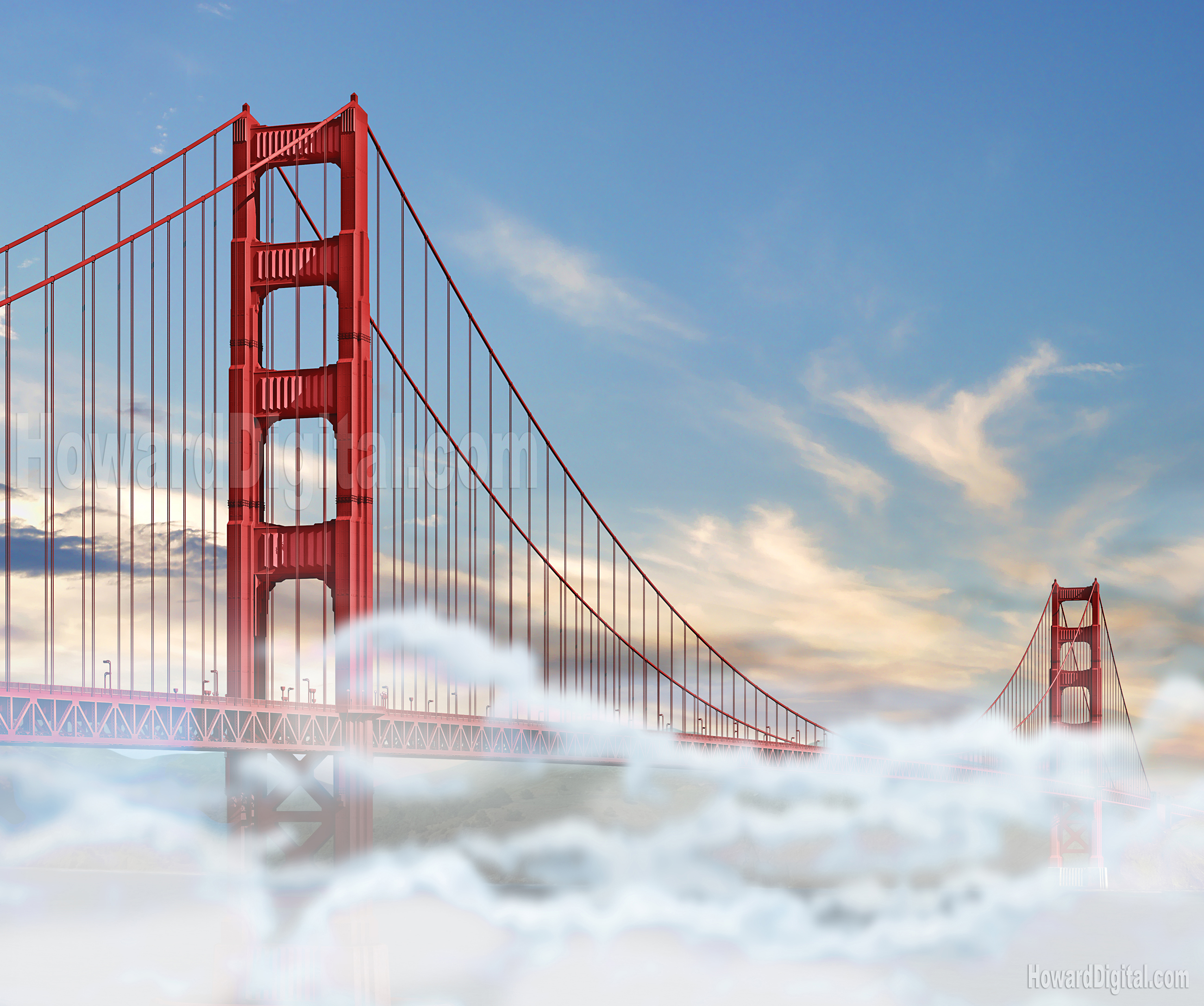 Portfolio golden gate bridge fog rendering golden gate bridge fog