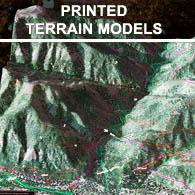 Terrain models - Printed fiberglass solid terrain models