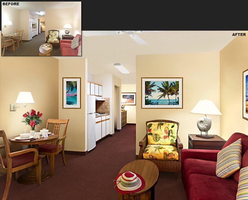 Photo Retouch Digital Enhanced Sun Shine Suites Howard Digital