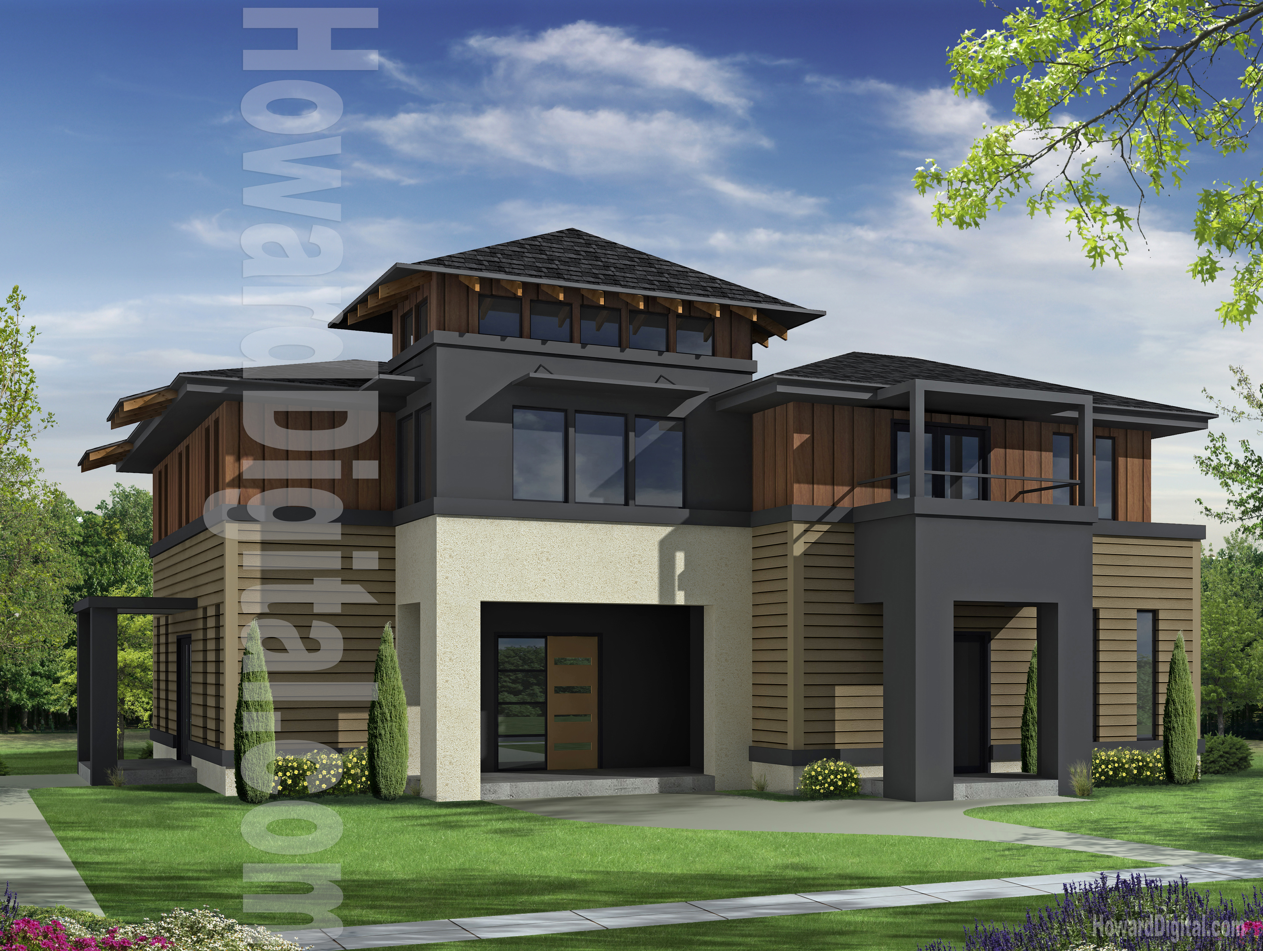 House illustration home rendering hardie design guide Home 3d model