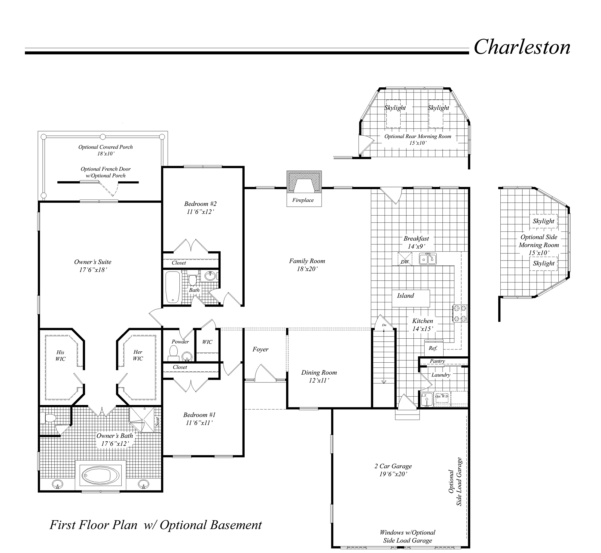 house illustration - home rendering - classic homes floor plan