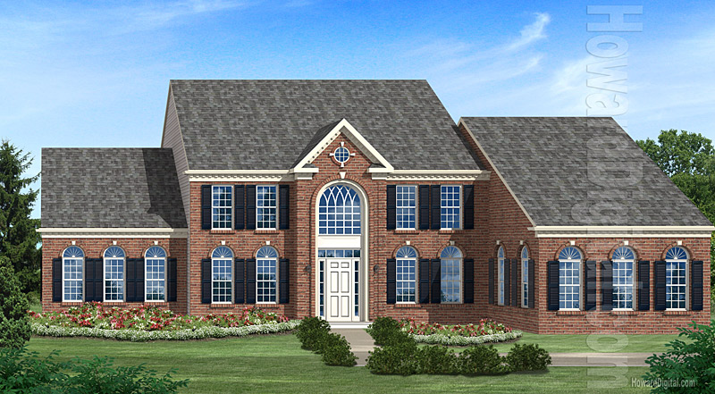 House illustration home rendering the classic home for Classical homes
