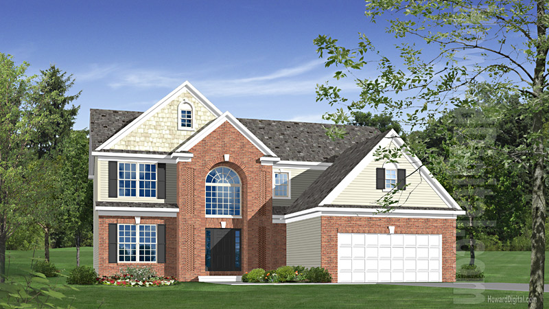 House illustration home rendering macon georgia for Home builders macon ga