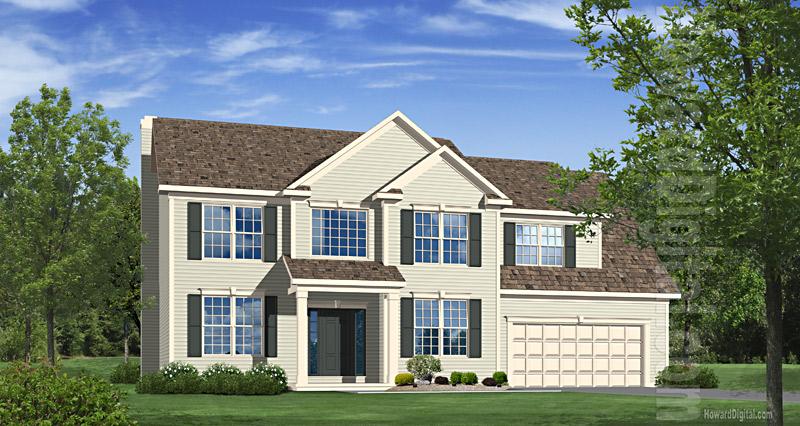 House illustration home rendering valdosta georgia for Custom home builders valdosta ga