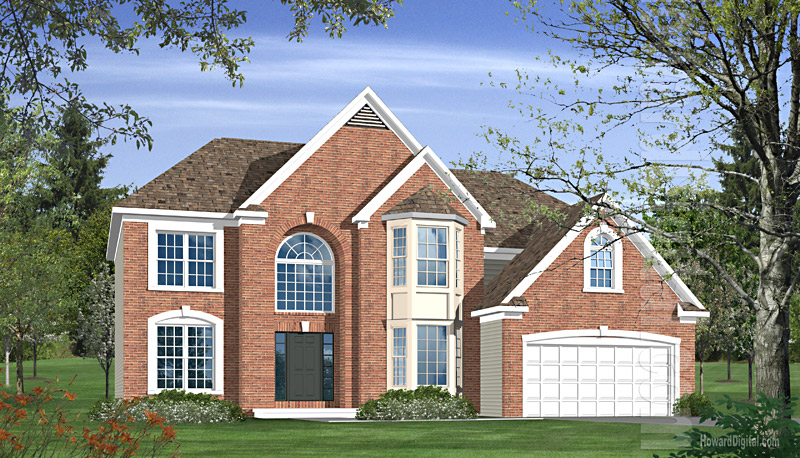 House illustration home rendering warner robins for Home builders warner robins ga