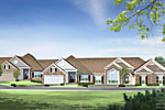 Millenium Streetscape Homes Home Rendering