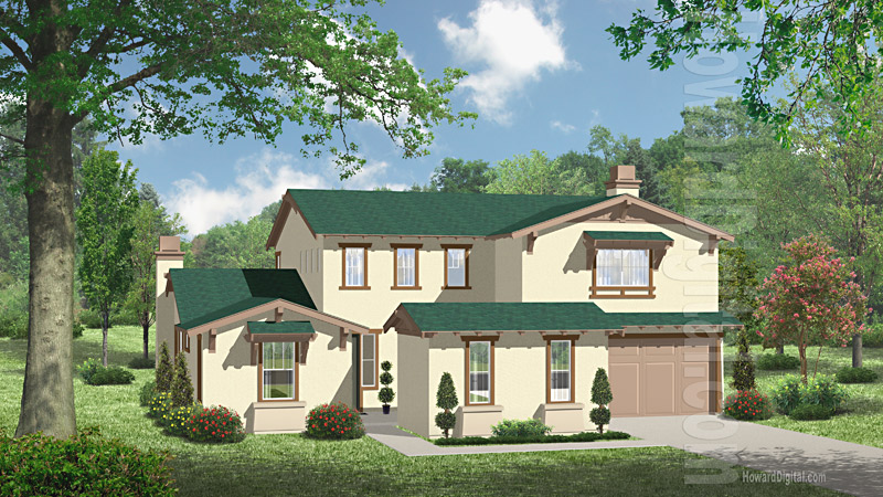 House Illustration Home Rendering North Valley New