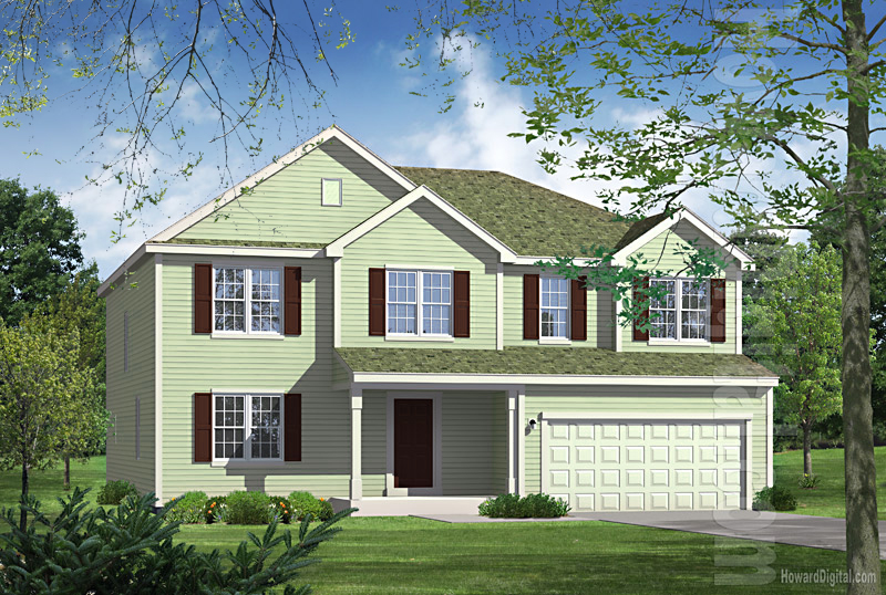 House illustration home rendering albany new york for Model houses in new york