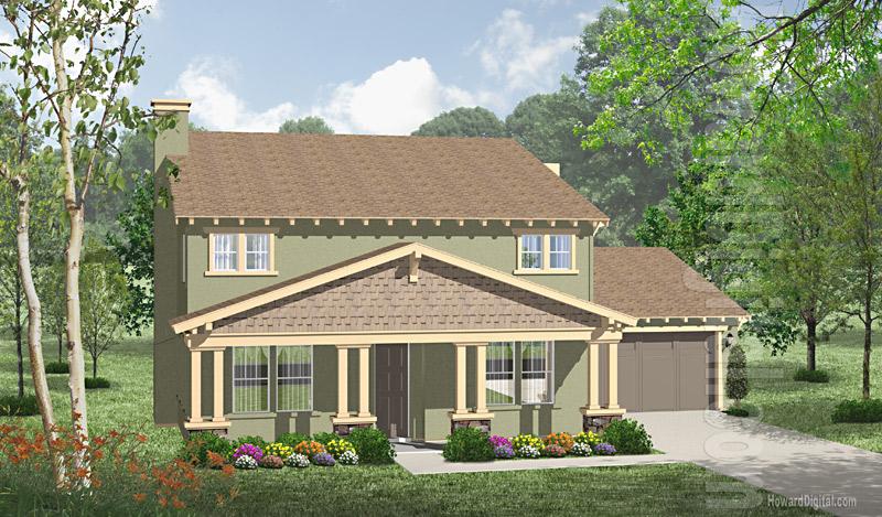 House illustration home rendering modesto california for House modesto